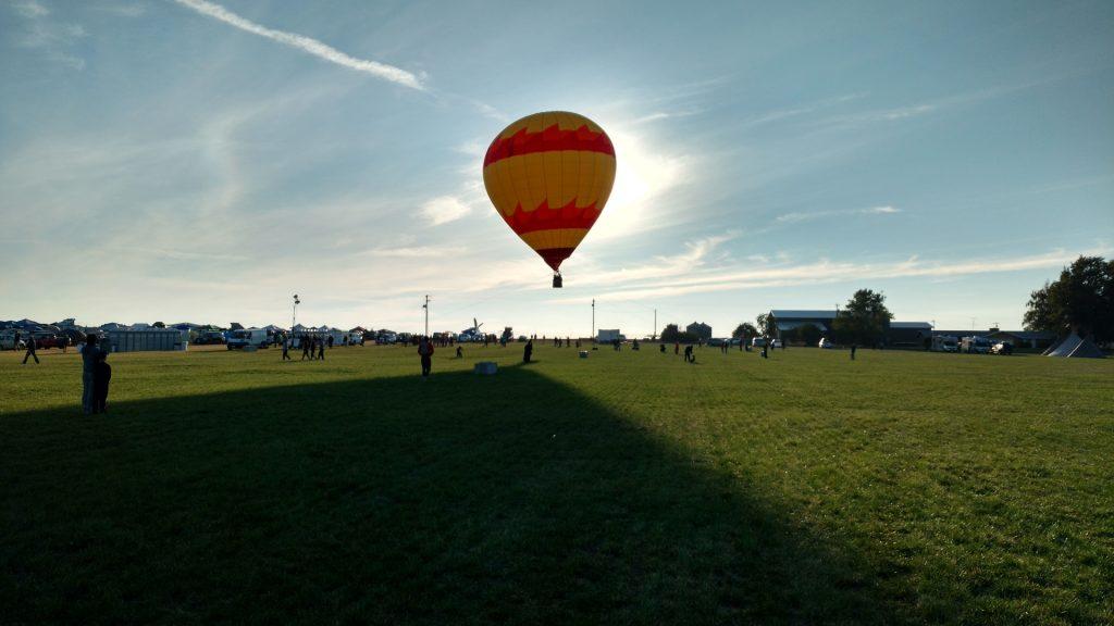 熱気球が飛んだ♪