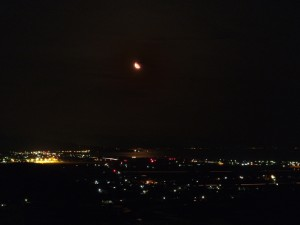 下弦の月夜(合成)
