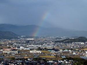 立ち上がる虹