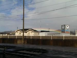 突然虹が出現♪