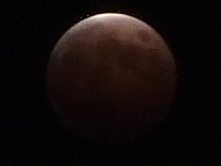 月食2014年10月8日19時24分12秒