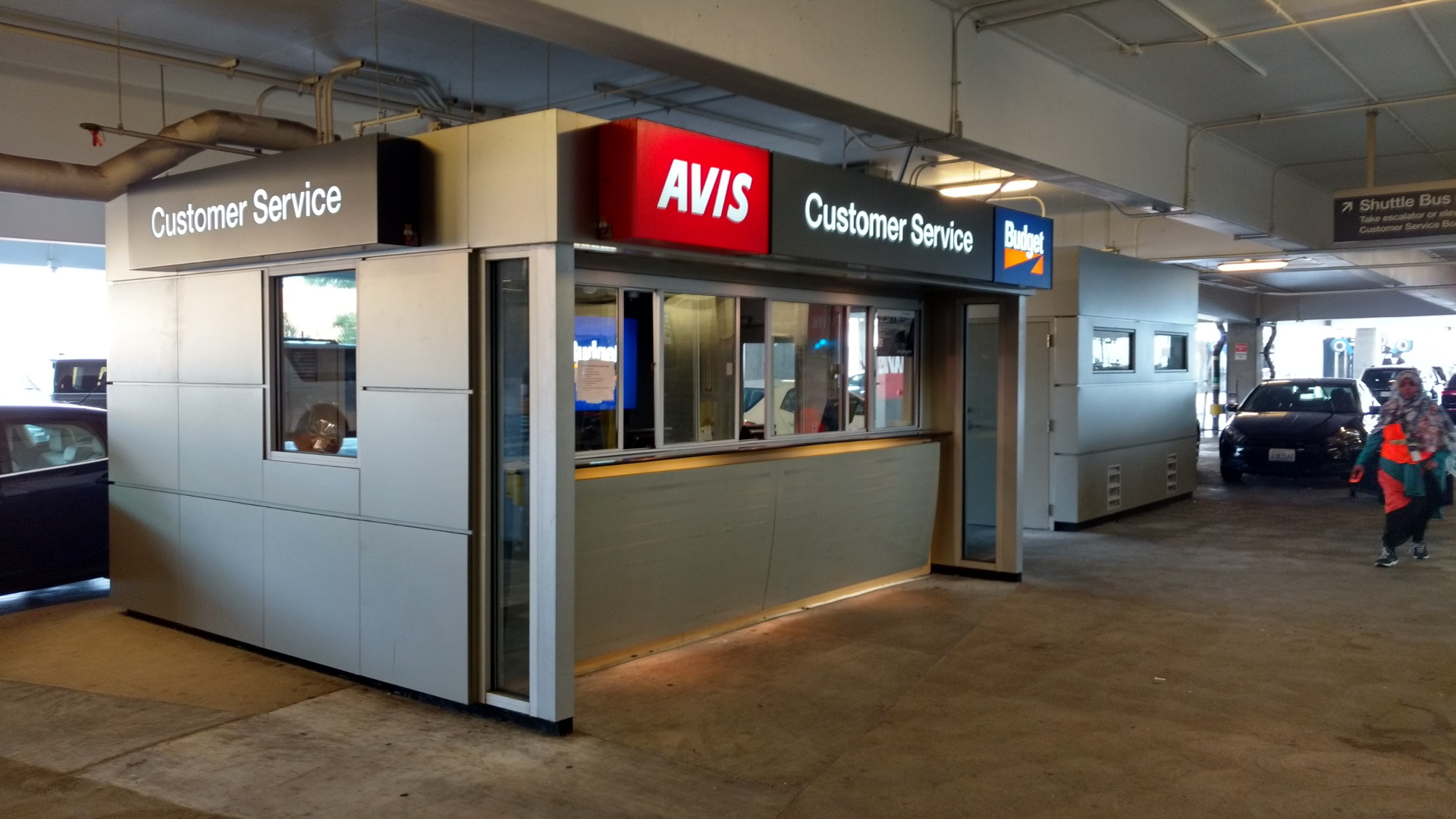 AVISの返却カウンター