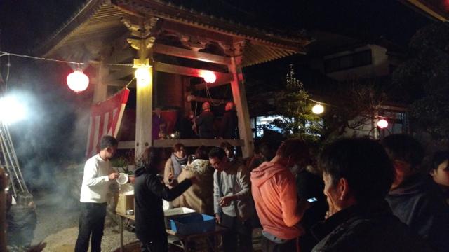 奈半利町極楽寺の除夜法要2017/2018