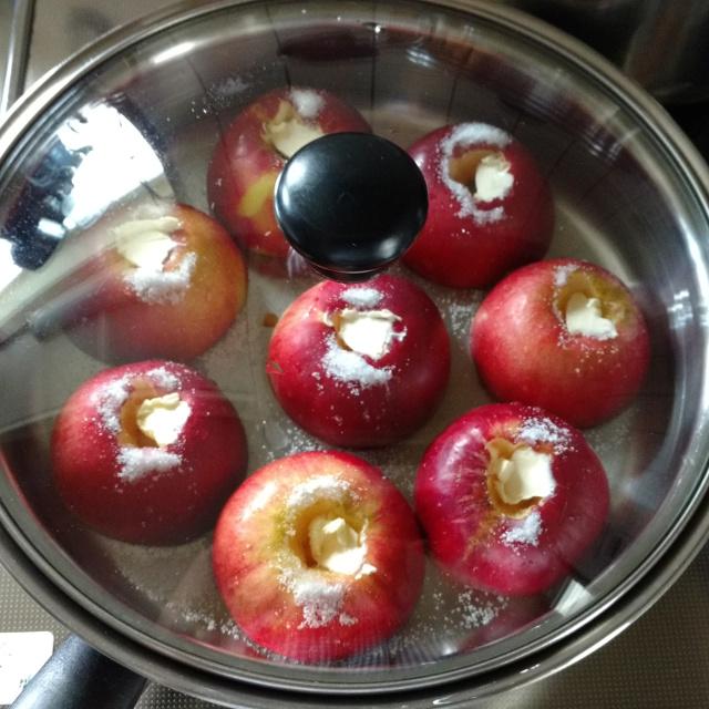 焼リンゴ作り