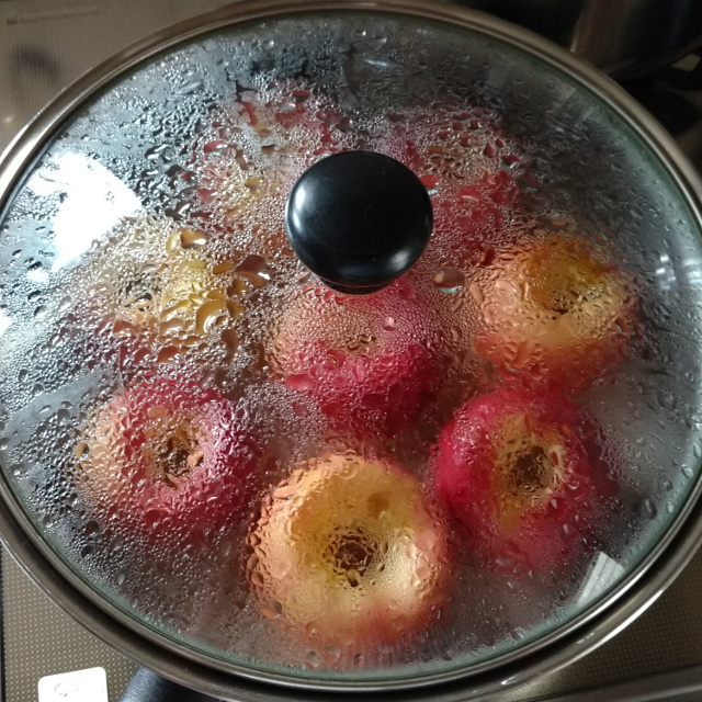 焼リンゴ作り完了♪