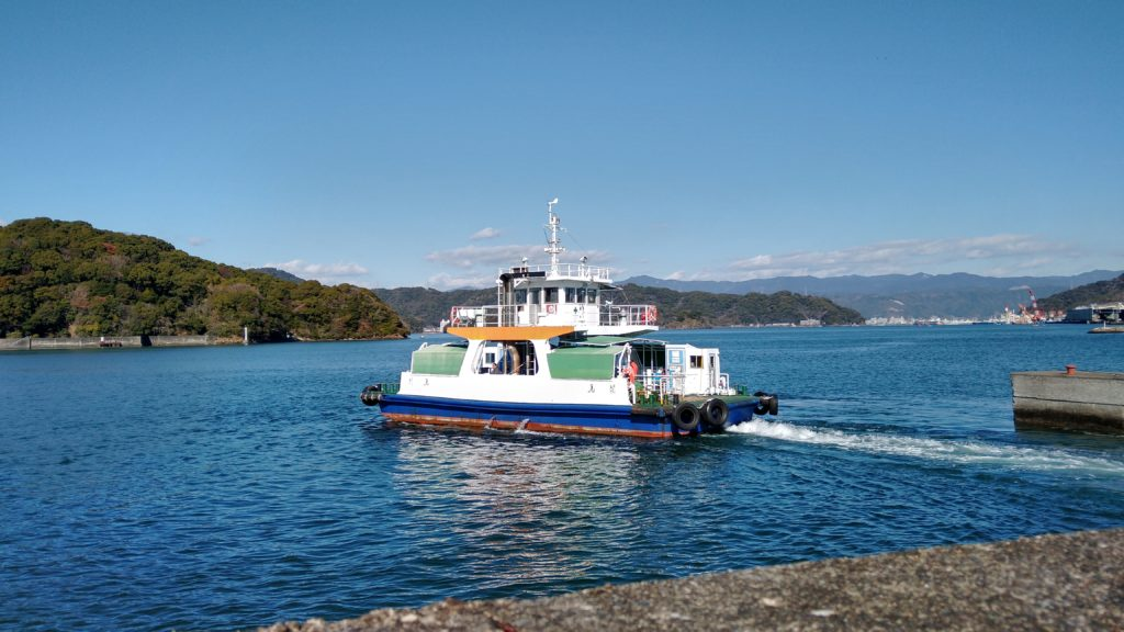 県営渡船:高知市種崎渡船場から出港