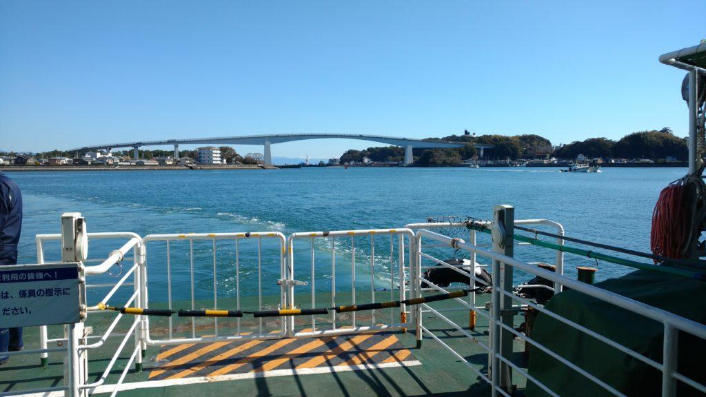 高知県営渡船:もうすぐ長浜・梶ヶ浦渡船場